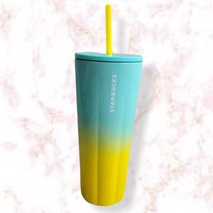 Starbucks Stainless Steel Yellow and blue Tumbler